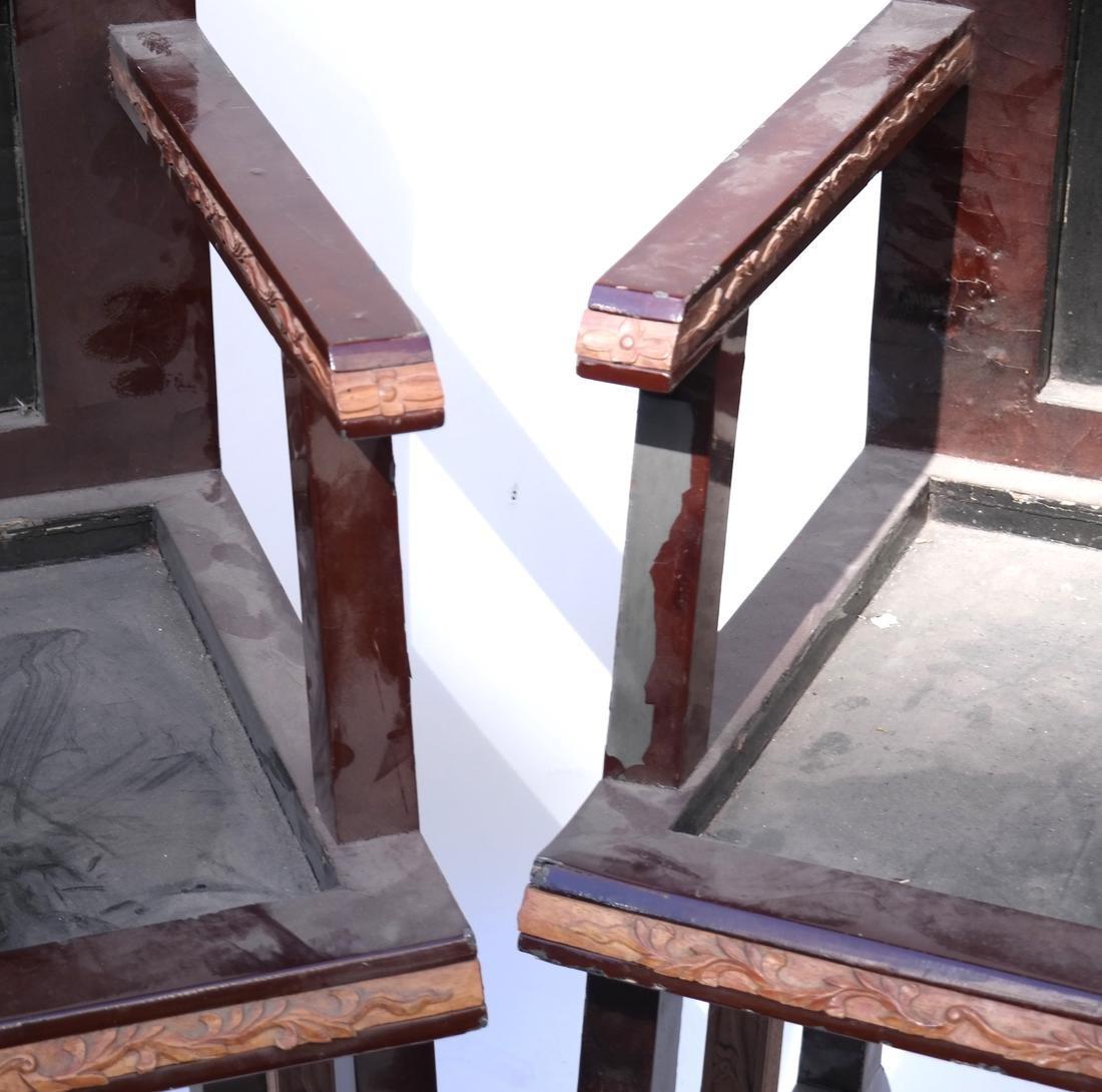 Pair of Art Deco Armchairs - 2