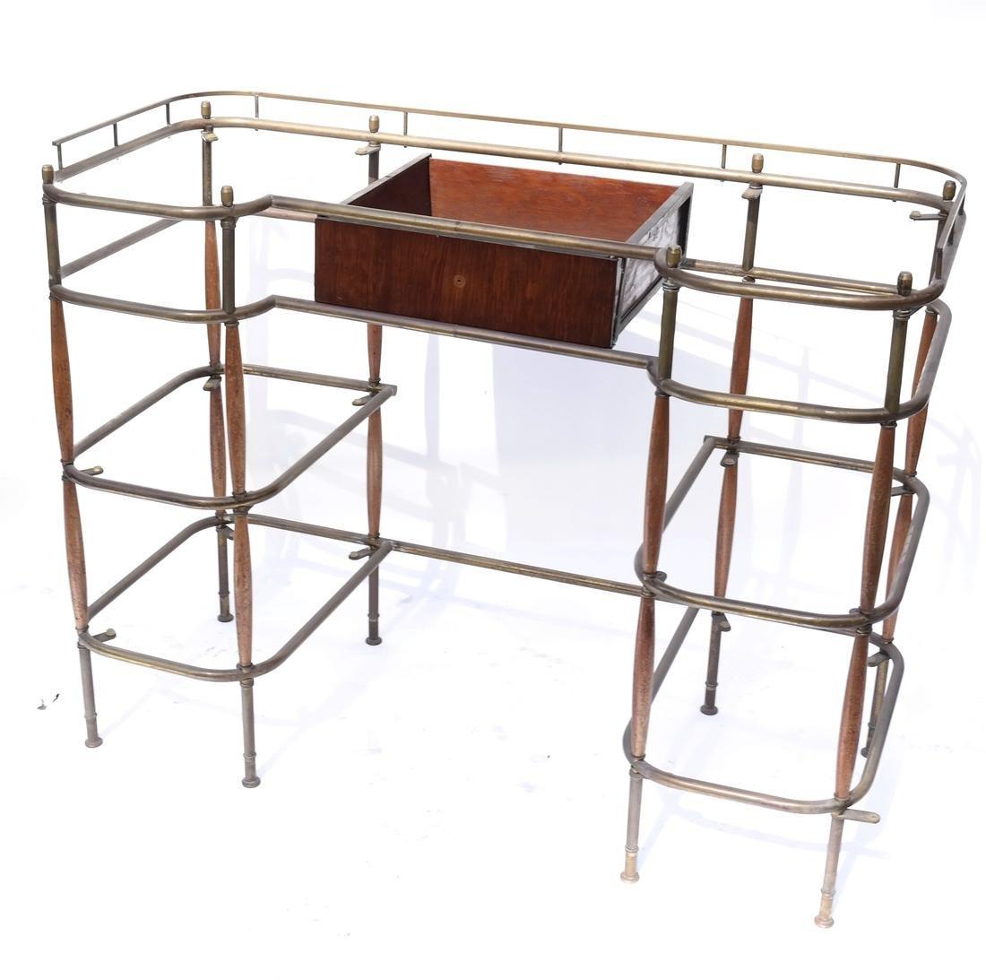 Brass Tubular Desk Frame