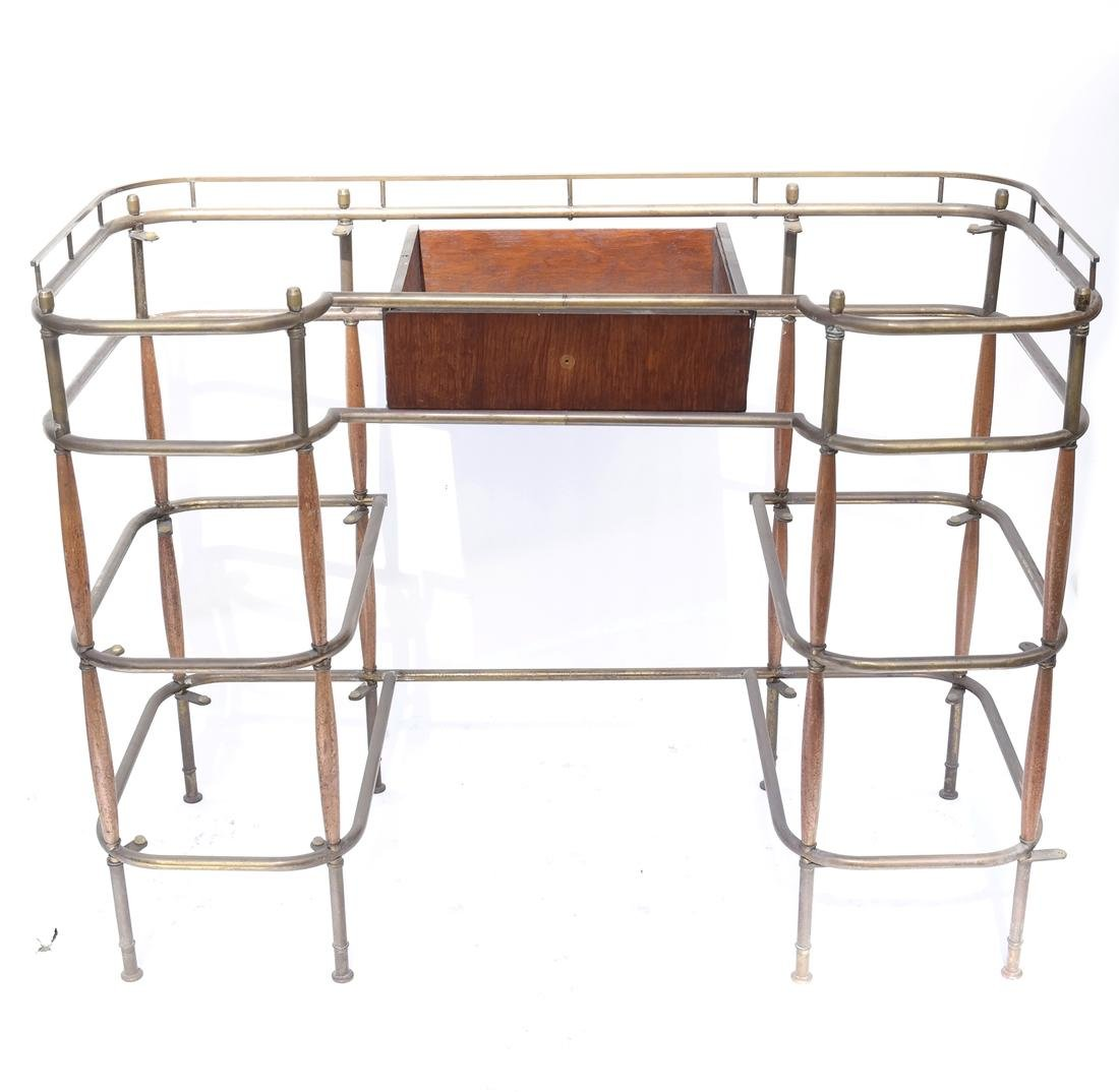 Brass Tubular Desk Frame - 2