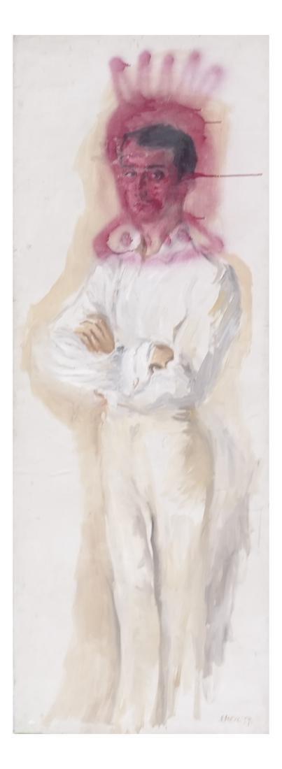 Peter Sheil, Male Portrait, Oil Canvas