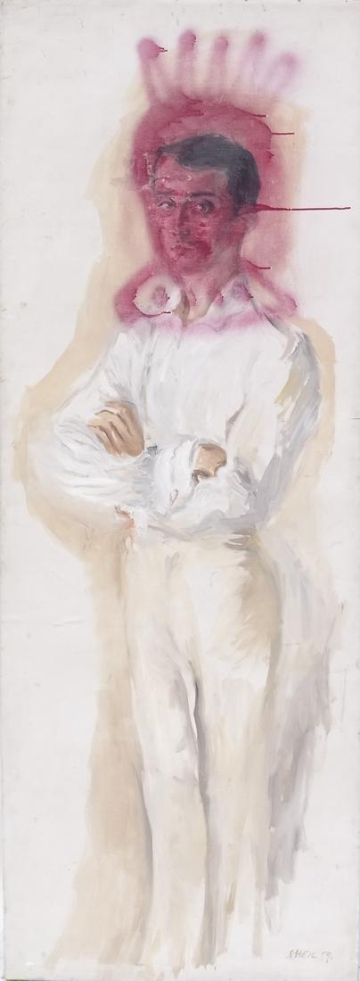Peter Sheil, Male Portrait, Oil Canvas - 2