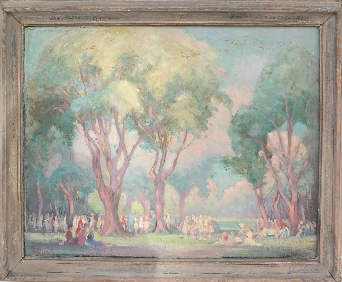 E. Elliot, Gathered at the Park - 2