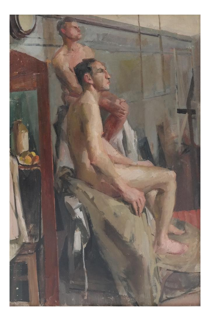 Study of Two Nude Males