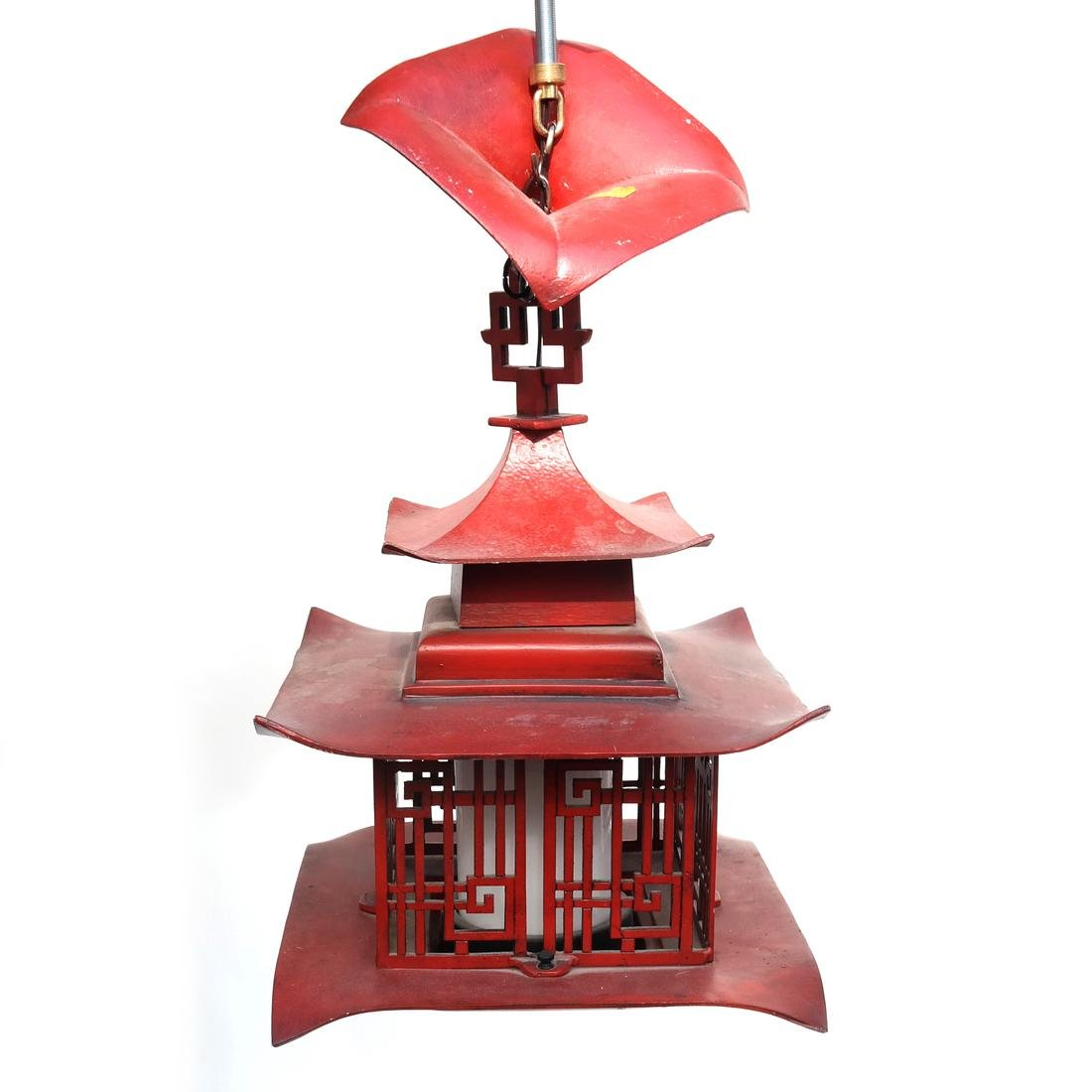 Pagoda-Style Red Lantern