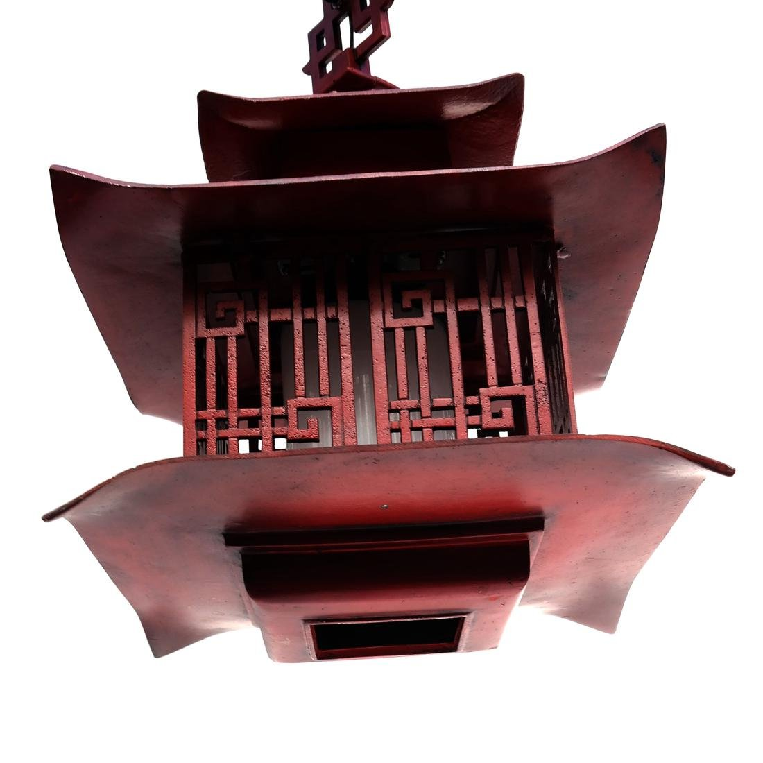 Pagoda-Style Red Lantern - 2
