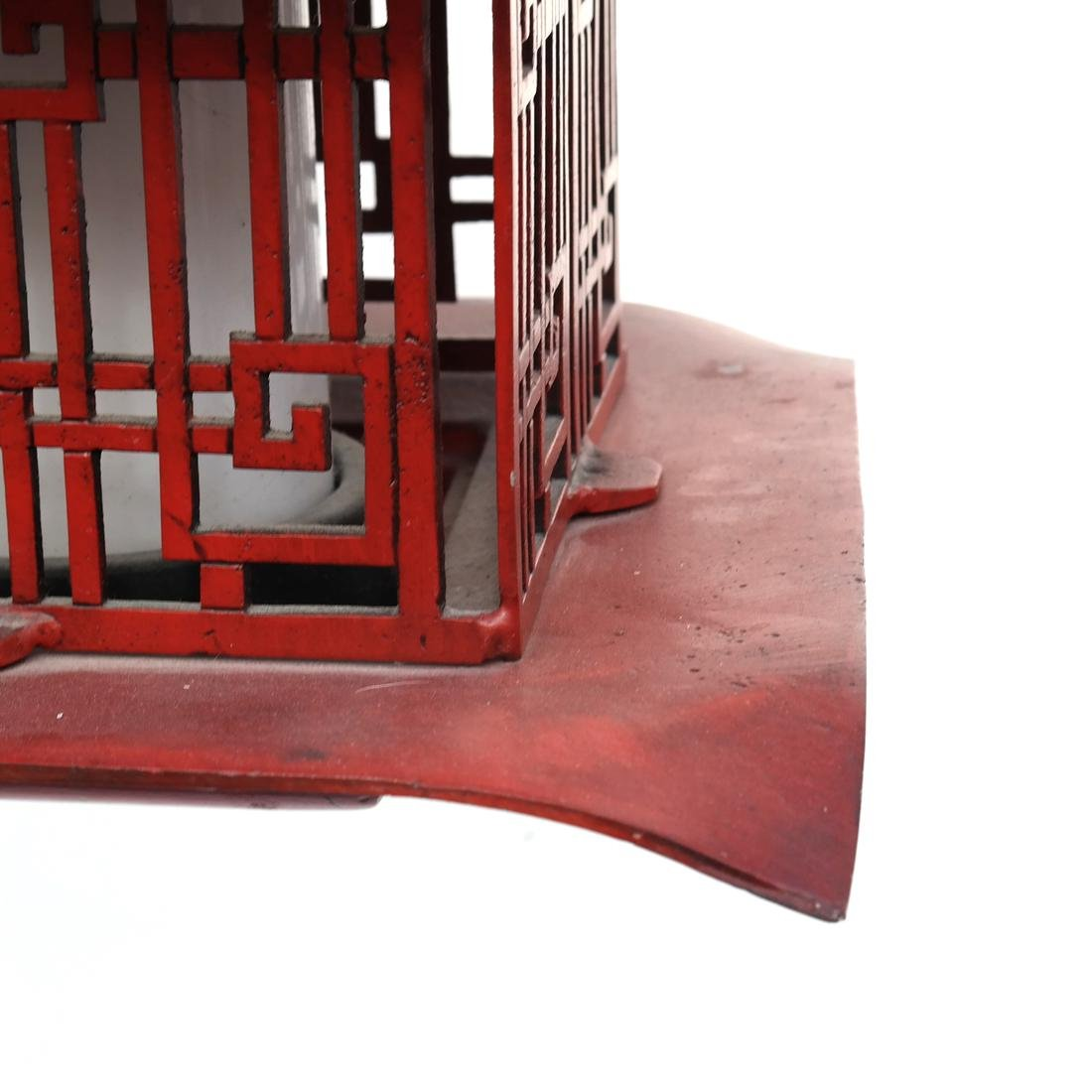 Pagoda-Style Red Lantern - 3