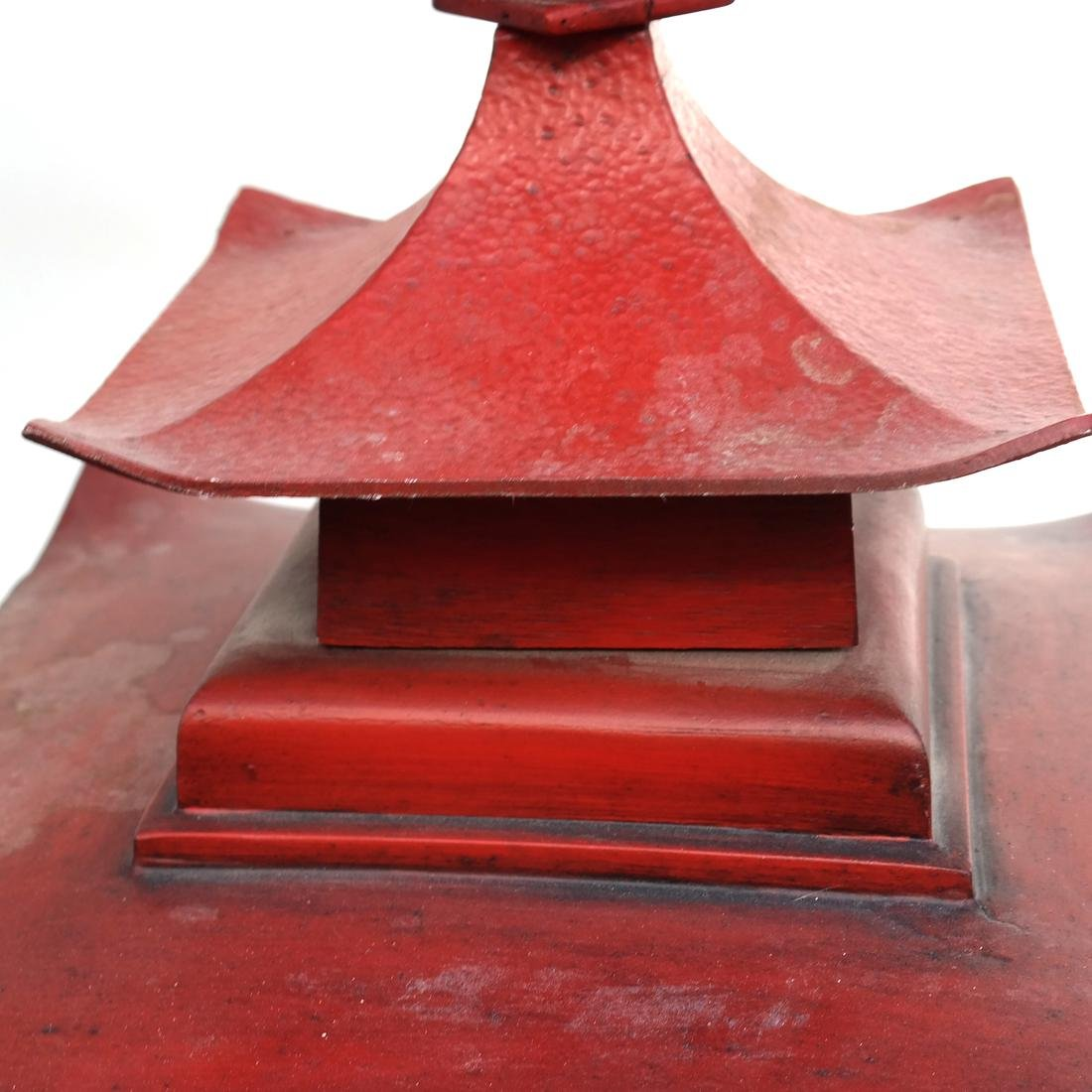 Pagoda-Style Red Lantern - 4