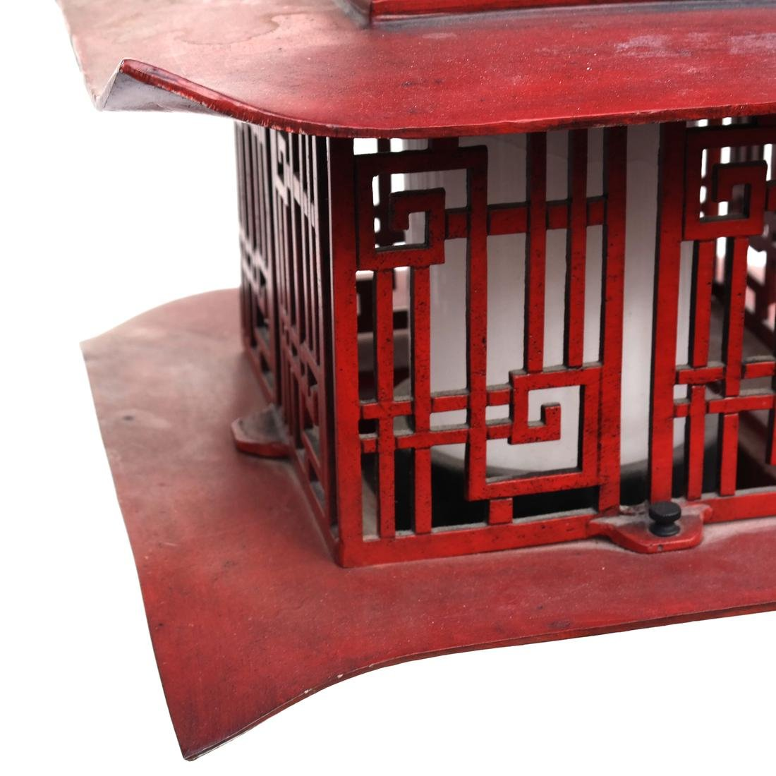 Pagoda-Style Red Lantern - 6