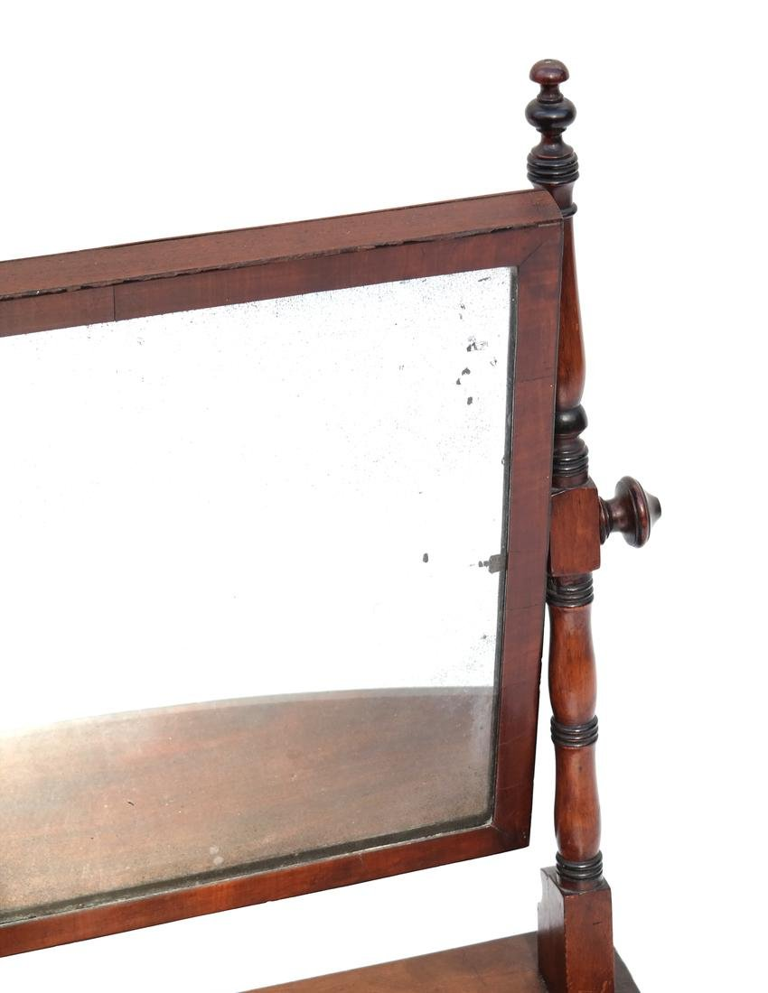 George IV Mahogany Shaving Mirror - 2