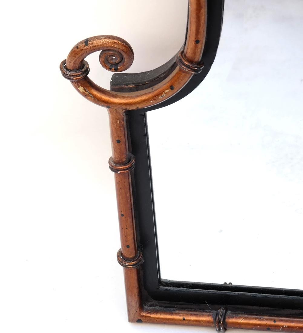 Pair of Faux Bamboo Mirrors - 2