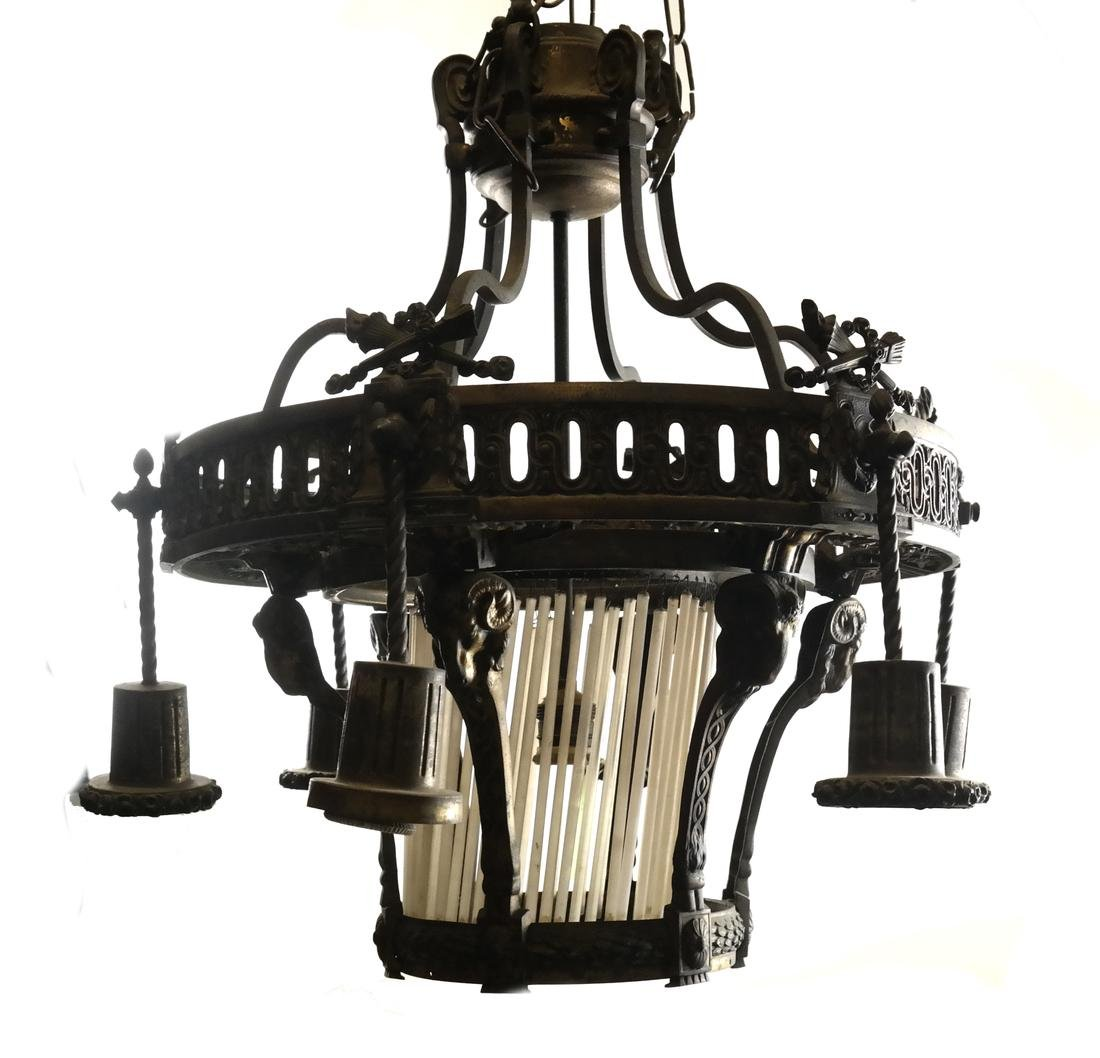 Classical-Style 7-Light Fixture