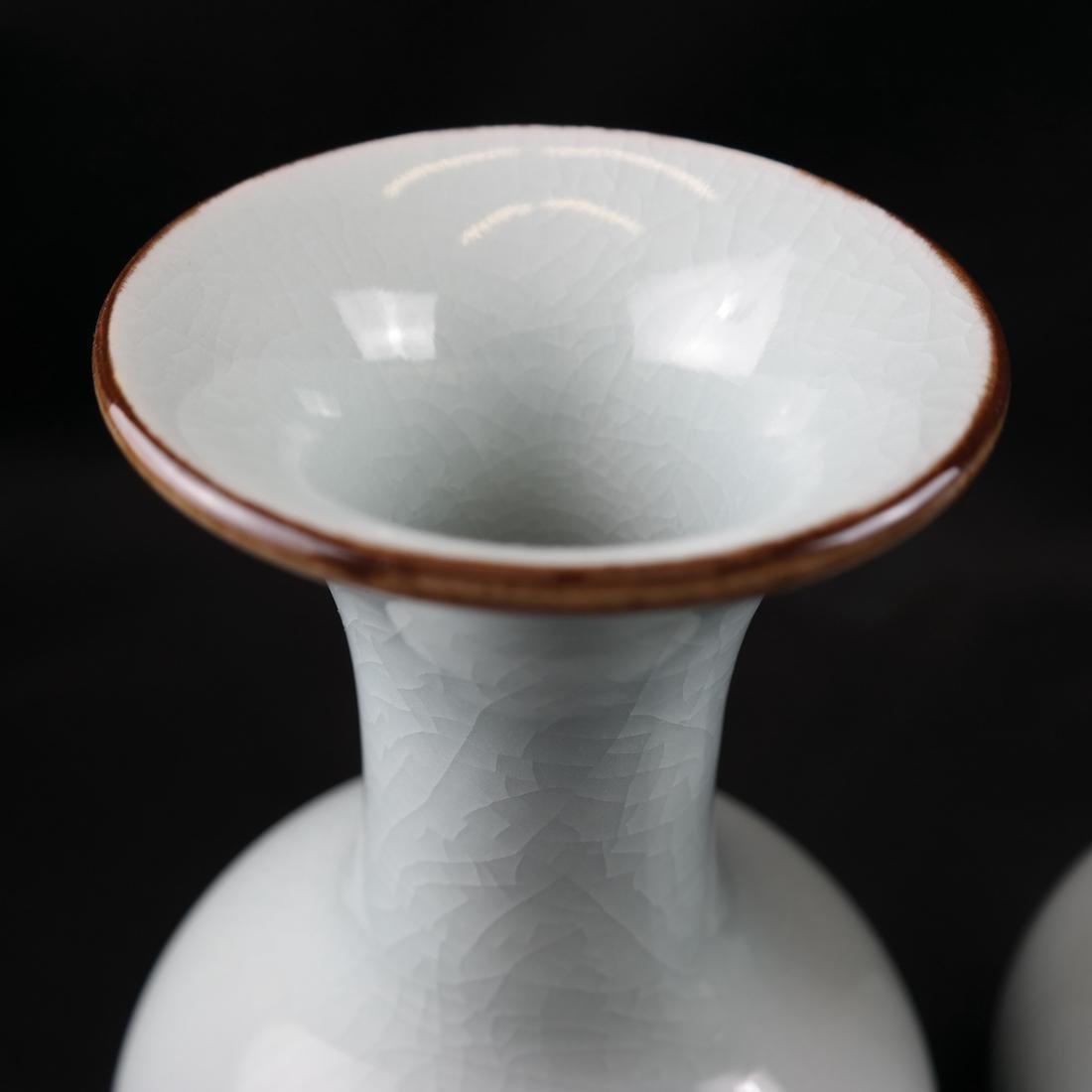 Pair of Celadon-Style Vases - 2