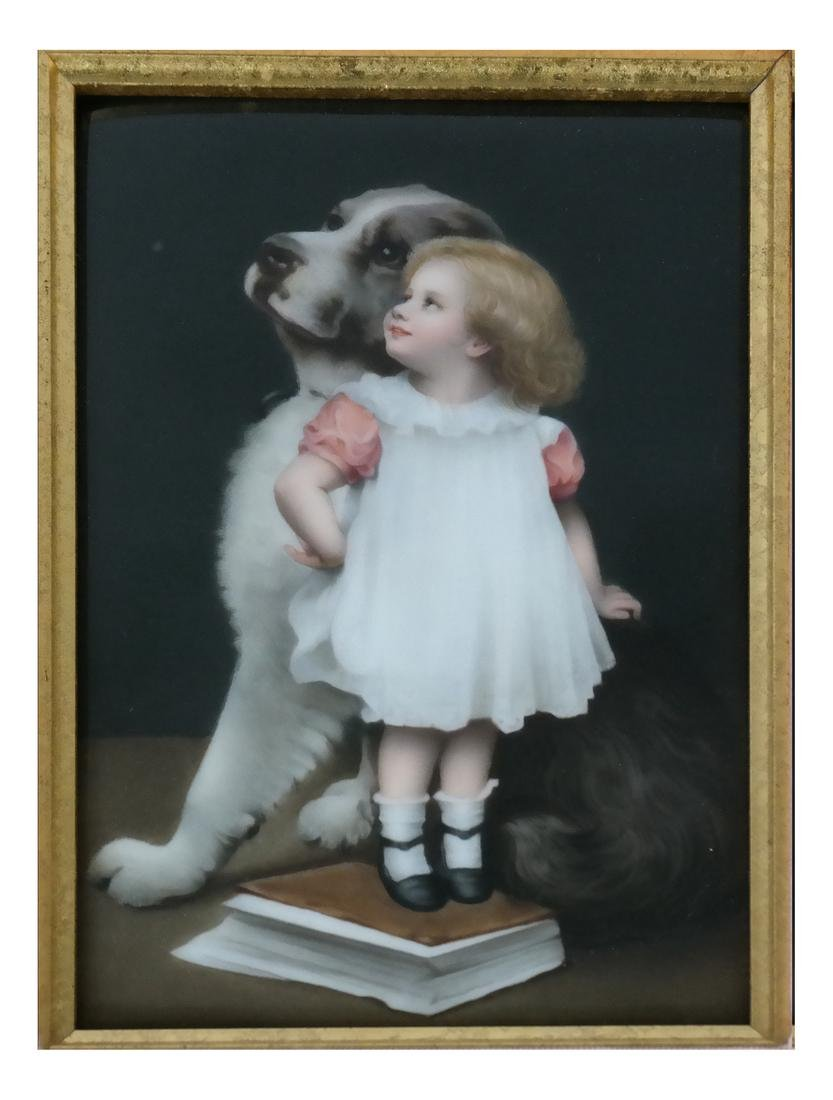 Royal KPM Framed Porcelain Plaque