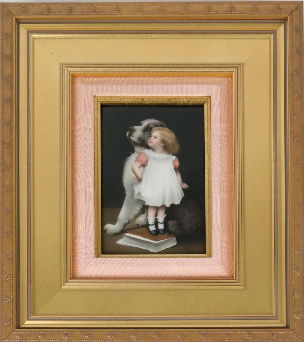 Royal KPM Framed Porcelain Plaque - 2