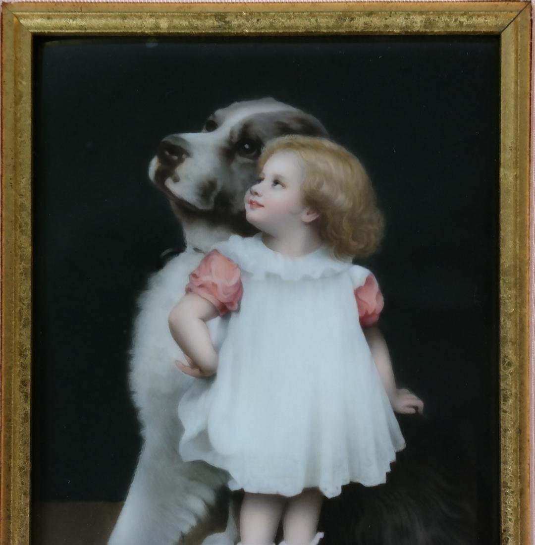Royal KPM Framed Porcelain Plaque - 3