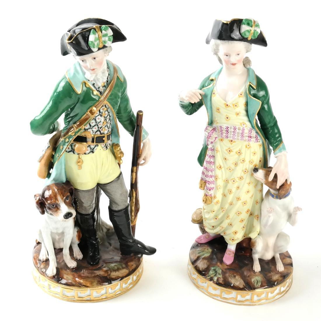 Pair of Meissen Figures