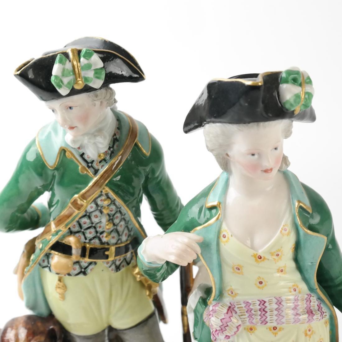 Pair of Meissen Figures - 3