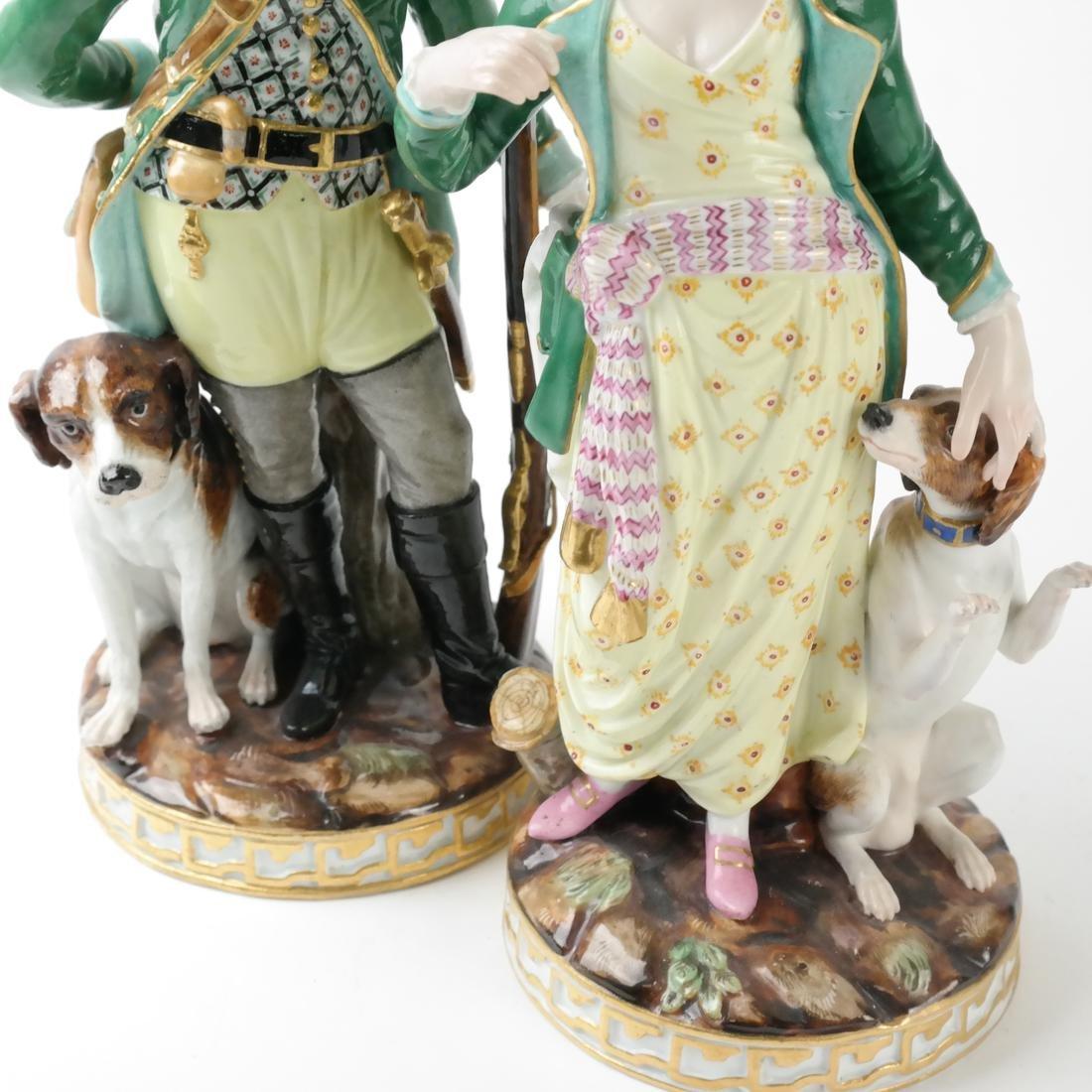 Pair of Meissen Figures - 4