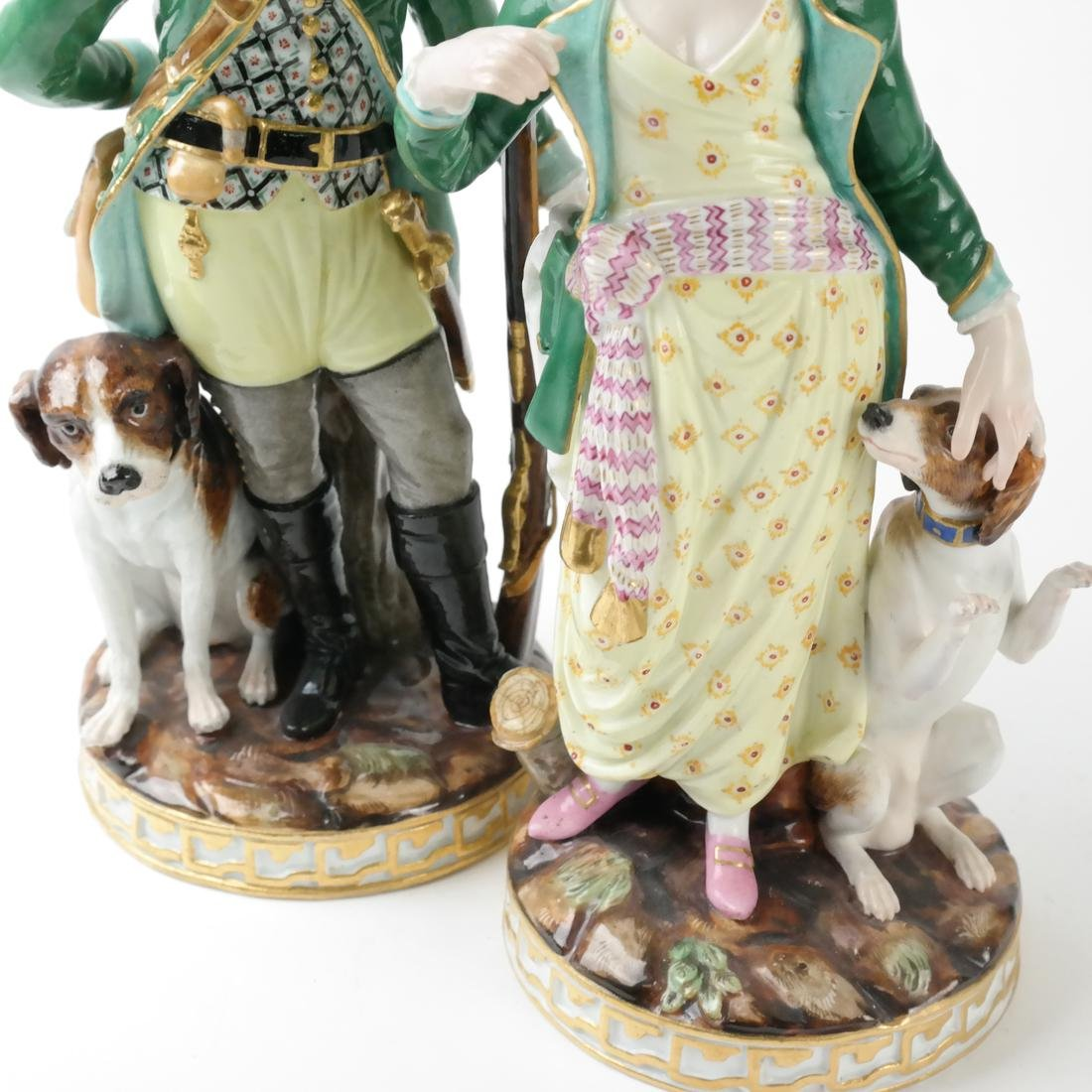 Pair of Meissen Figures - 4
