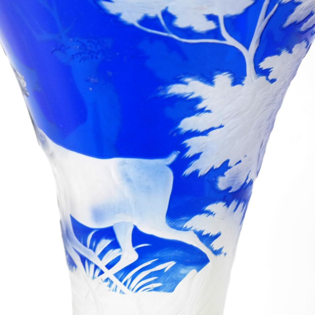 Bohemian Glass Vase - 5