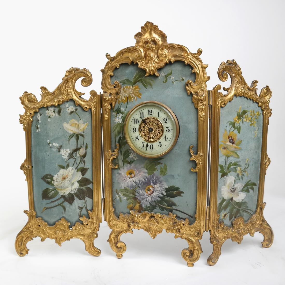 Rococo-Style Table Clock