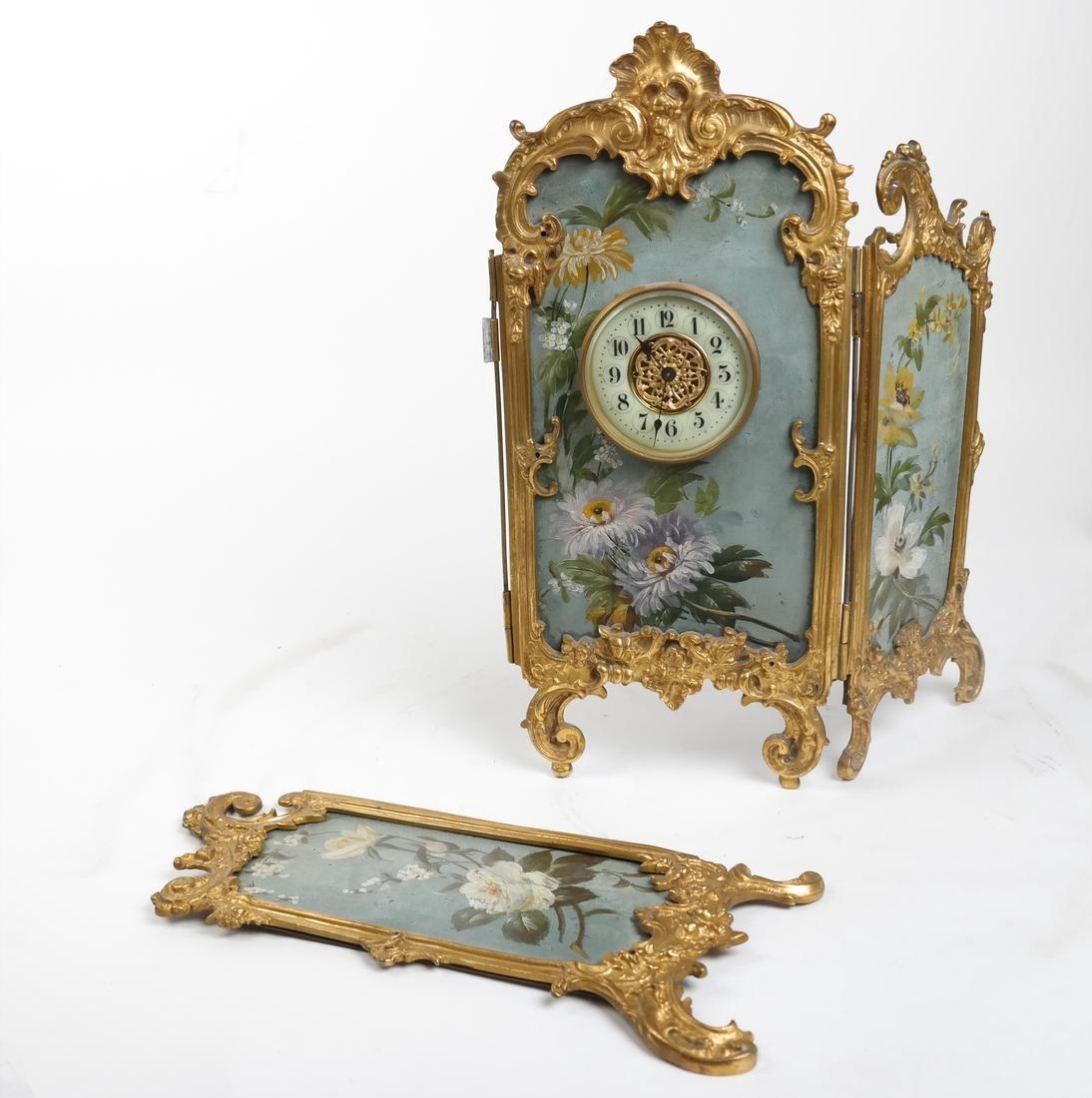 Rococo-Style Table Clock - 5