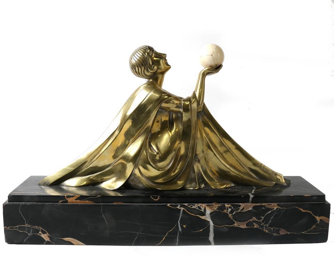 J. Lormier, Bronze Art Deco Sculpture - 2