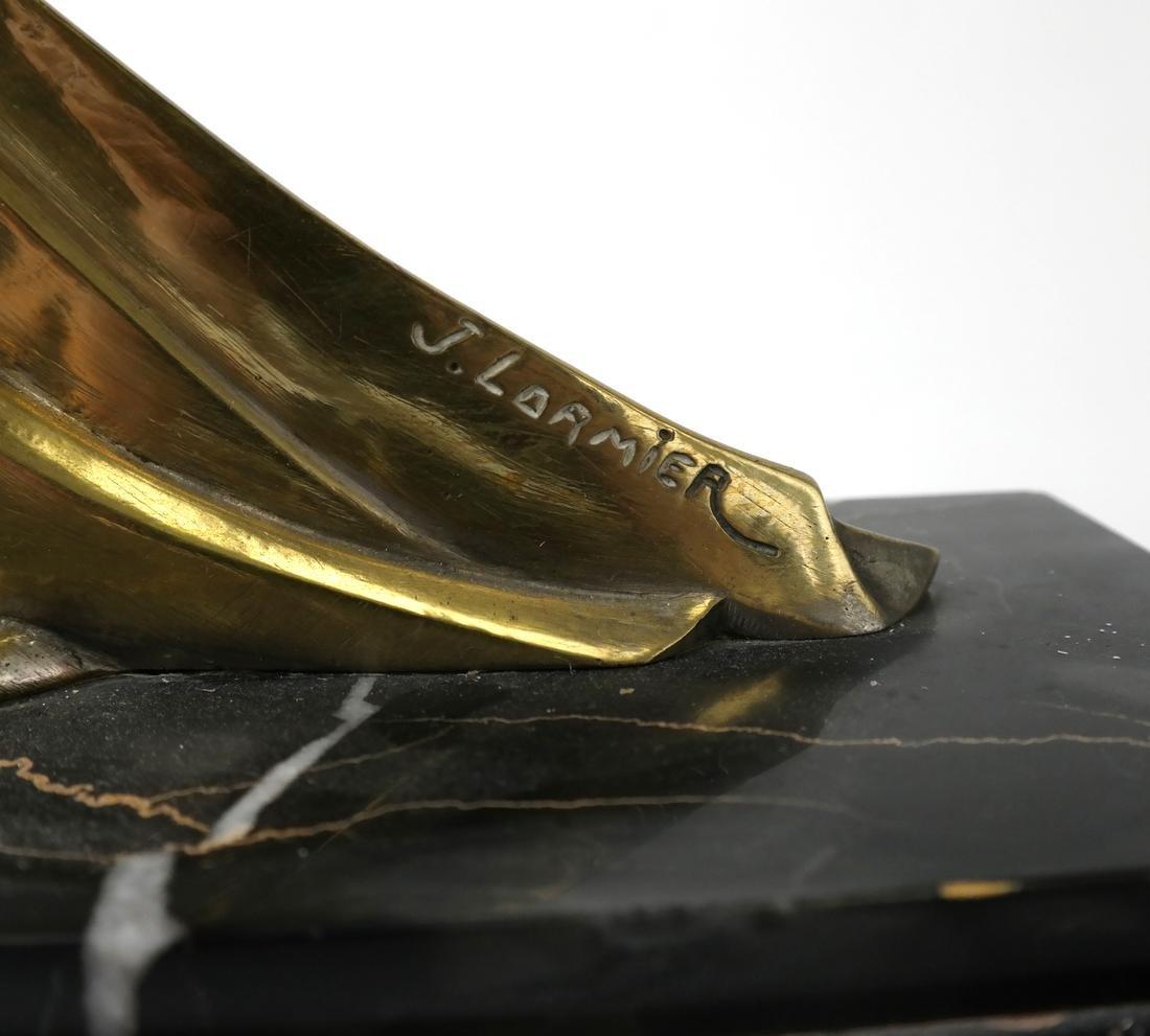 J. Lormier, Bronze Art Deco Sculpture - 4