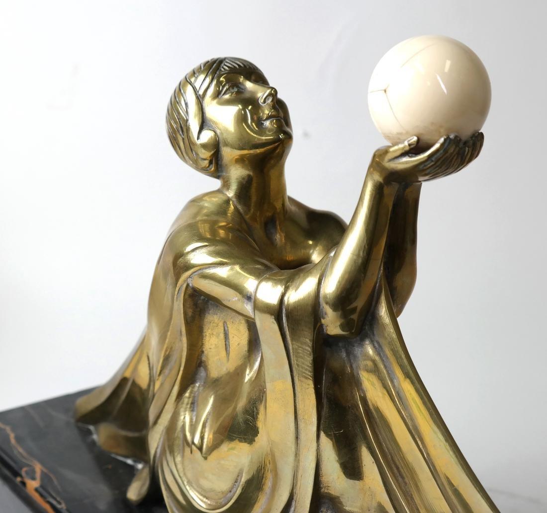 J. Lormier, Bronze Art Deco Sculpture - 5