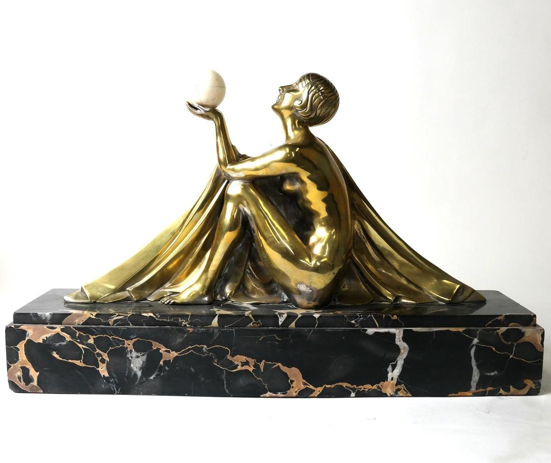 J. Lormier, Bronze Art Deco Sculpture - 8