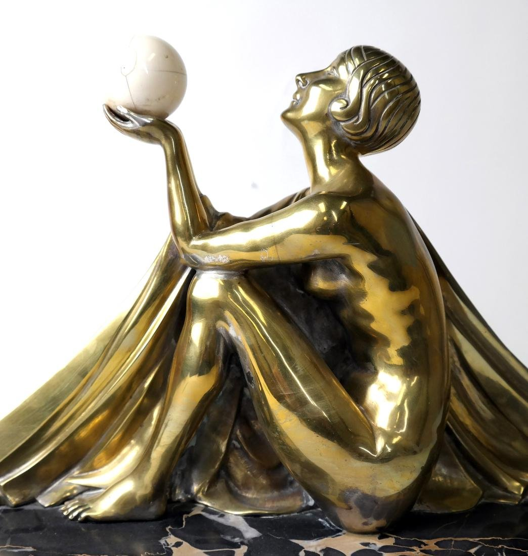 J. Lormier, Bronze Art Deco Sculpture - 9