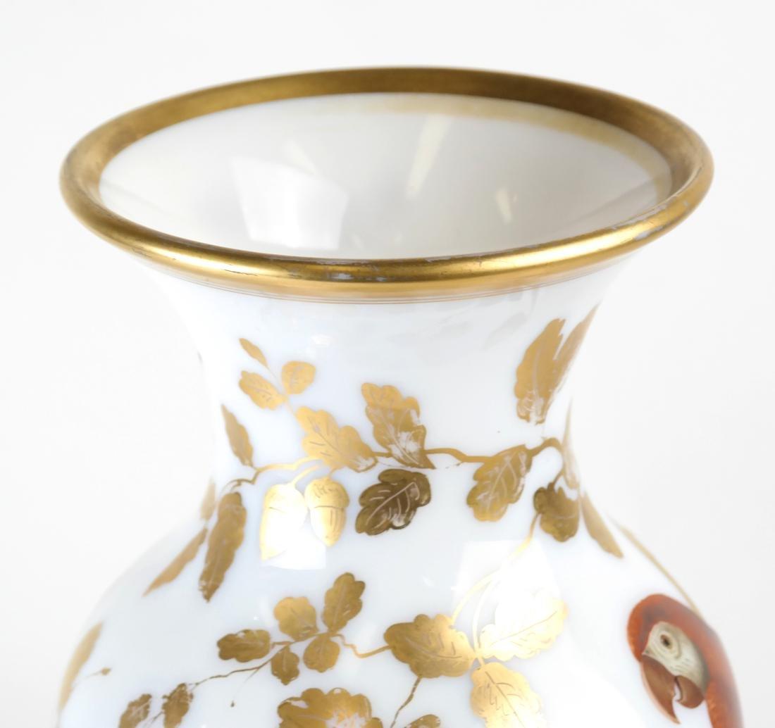 Parcel Gilt Enameled Opaline Glass  Vase Lamp - 3