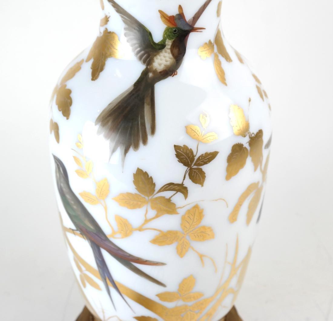 Parcel Gilt Enameled Opaline Glass  Vase Lamp - 6