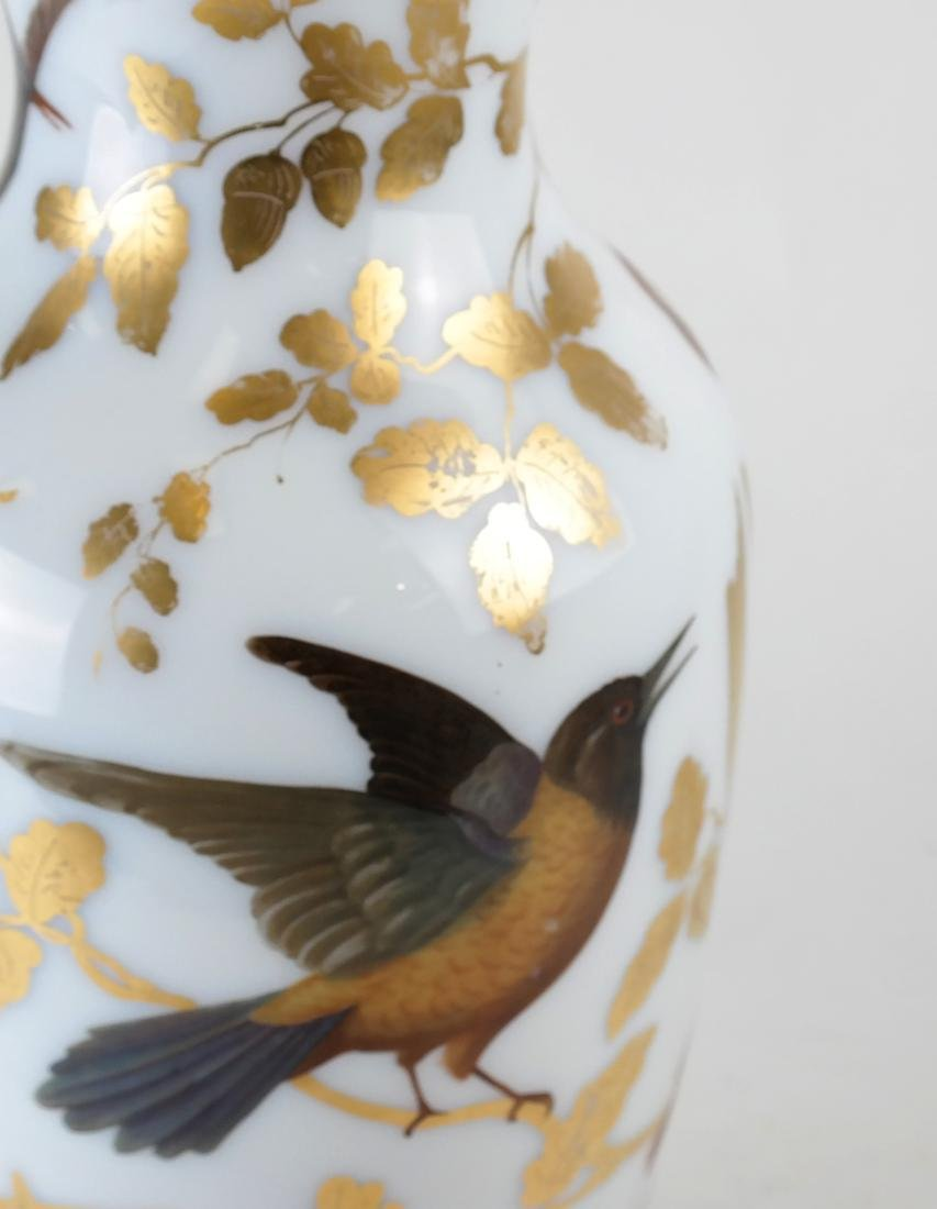 Parcel Gilt Enameled Opaline Glass  Vase Lamp - 7