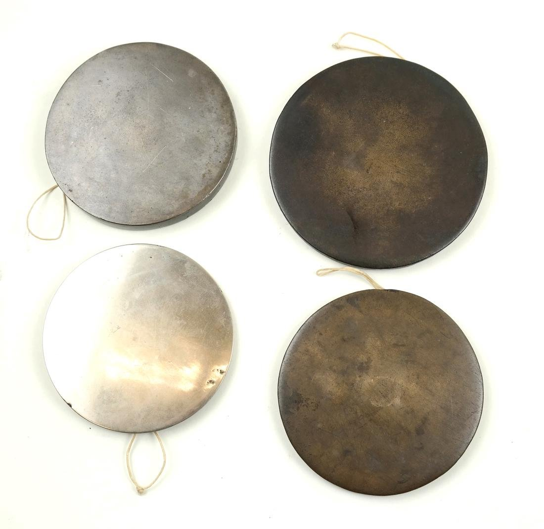 Four Chinese Antique Bronze Mirrors - 7
