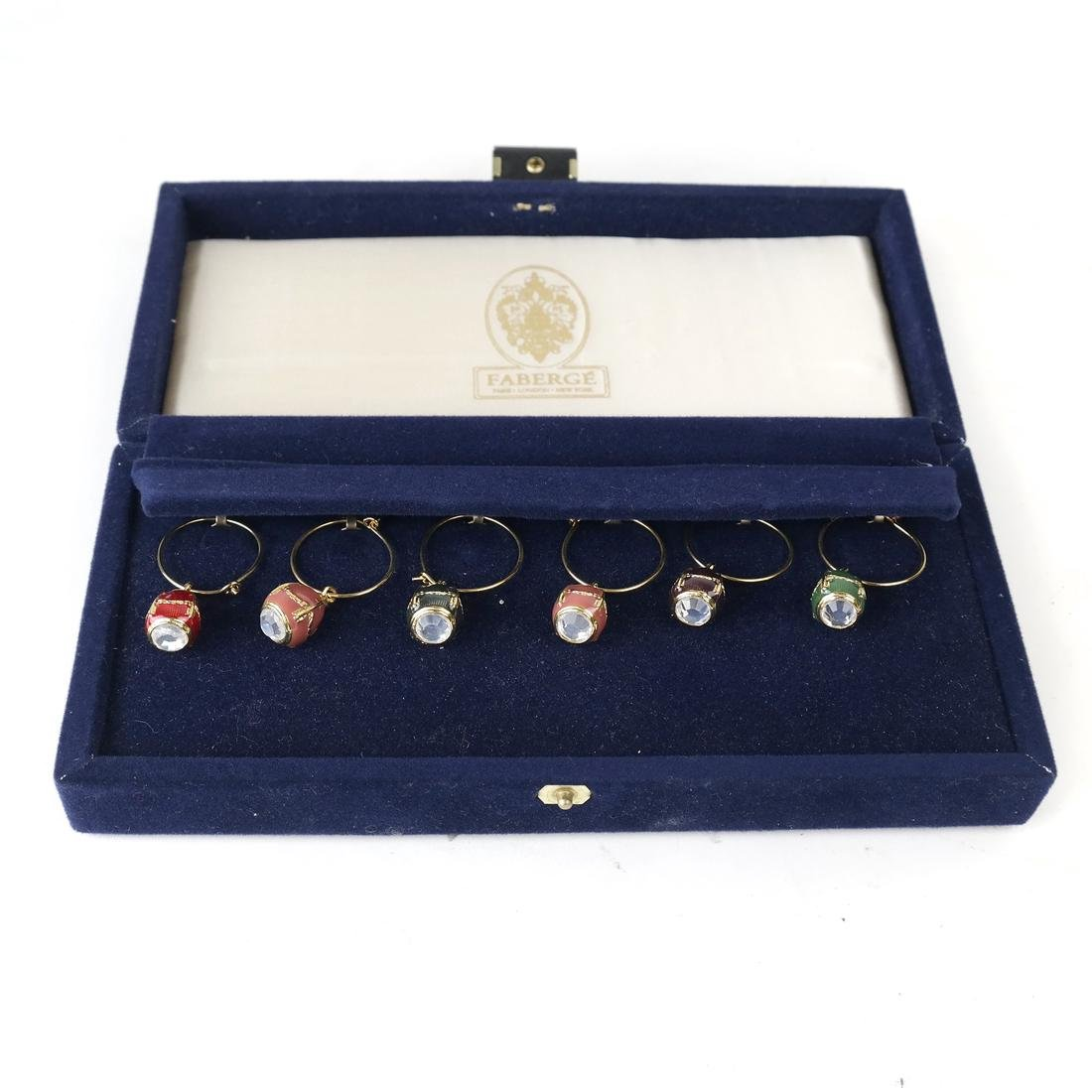 Six Wine Glass Charms, Fabergé
