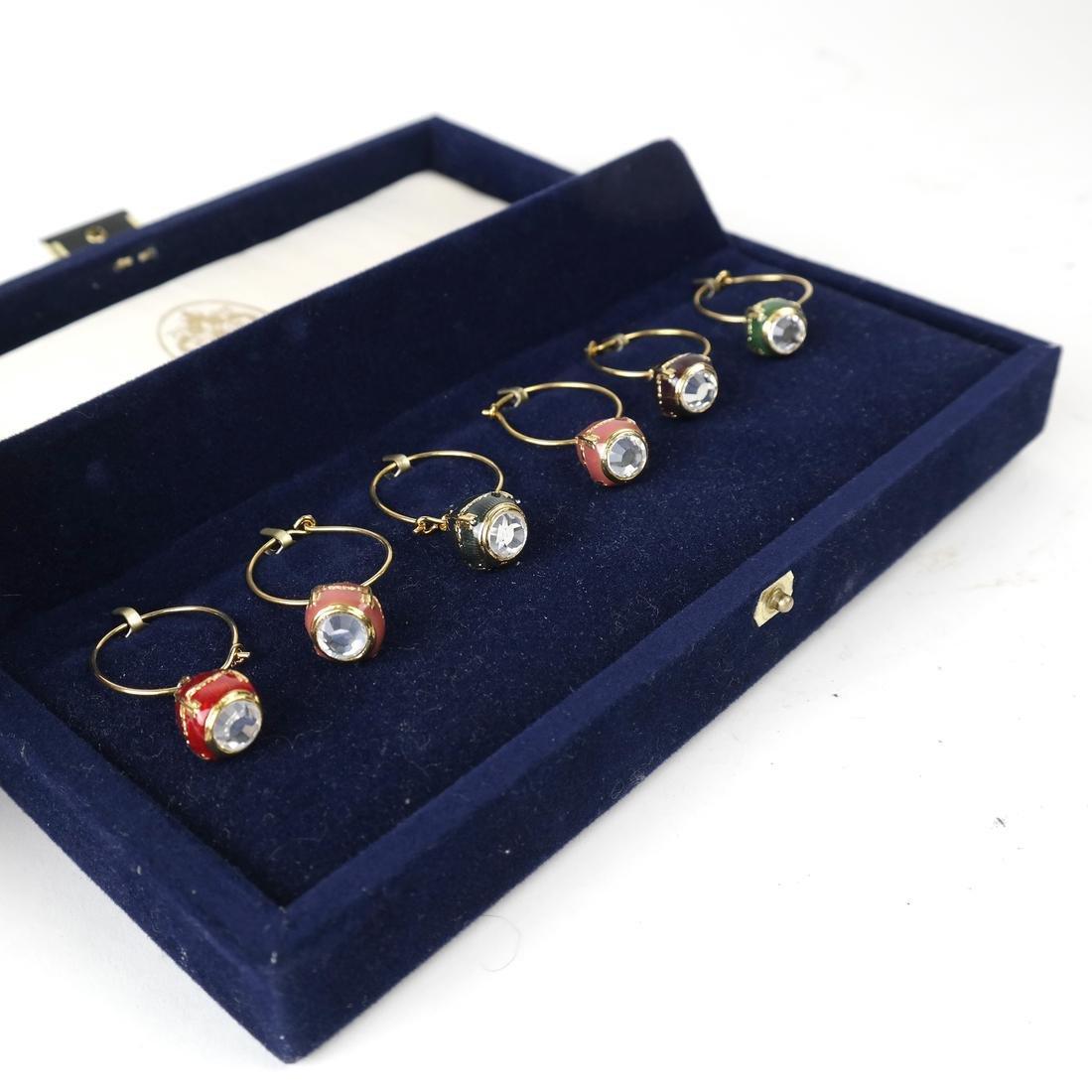 Six Wine Glass Charms, Fabergé - 2
