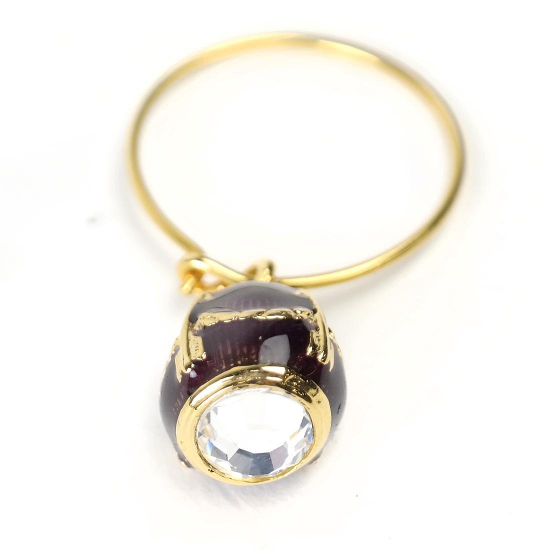 Six Wine Glass Charms, Fabergé - 4