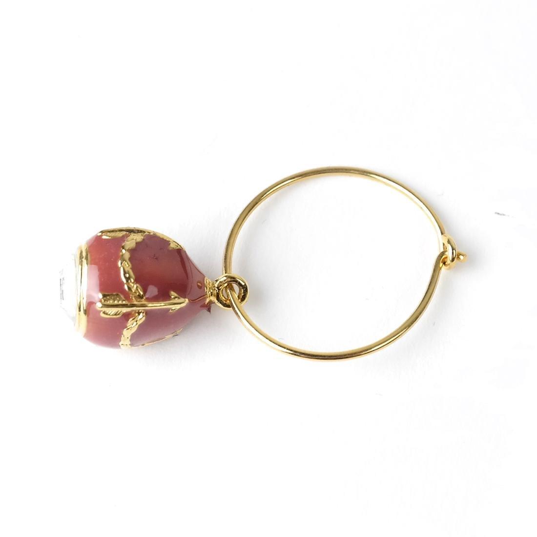 Six Wine Glass Charms, Fabergé - 5