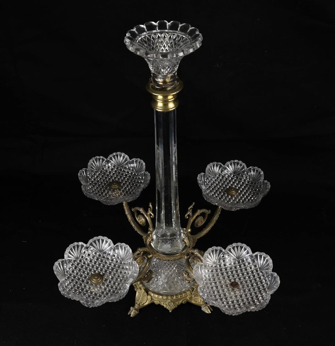 Gilt Bronze & Cut Glass Epergne - 2