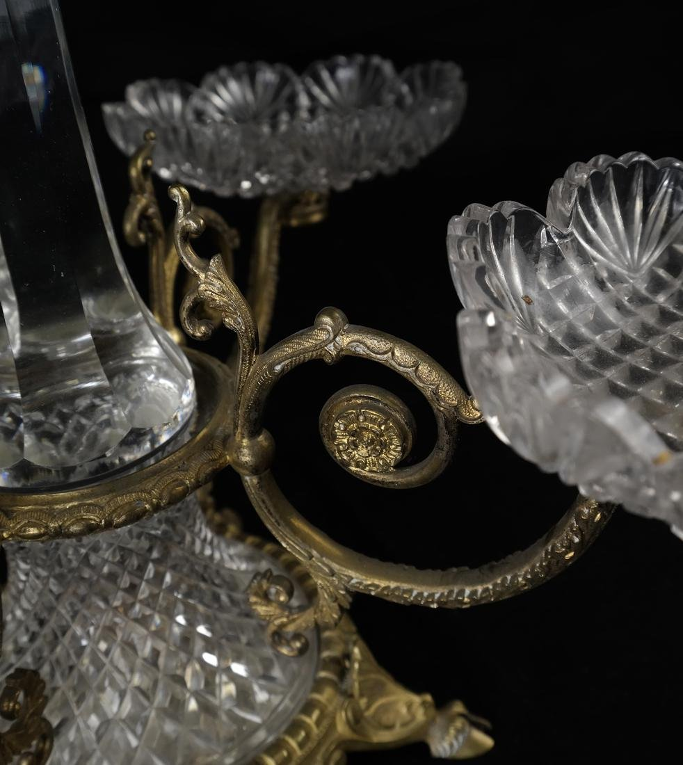 Gilt Bronze & Cut Glass Epergne - 5