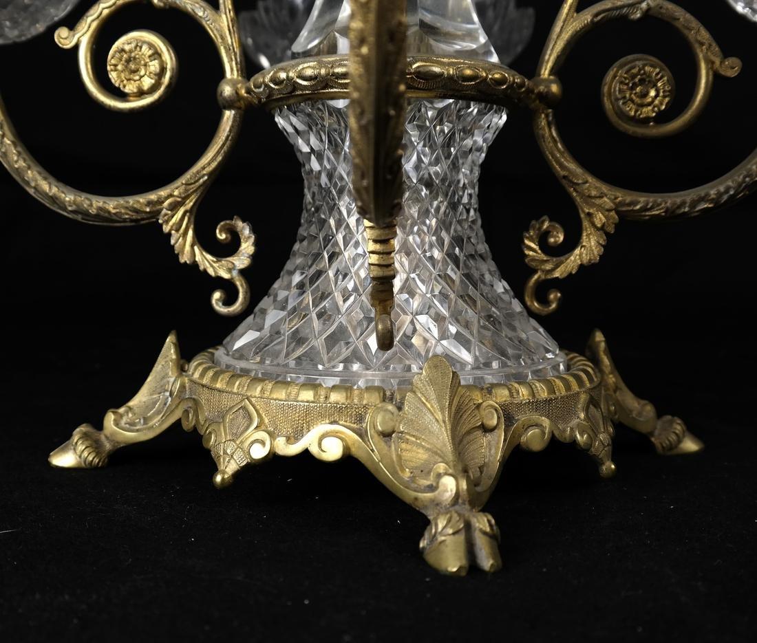 Gilt Bronze & Cut Glass Epergne - 7