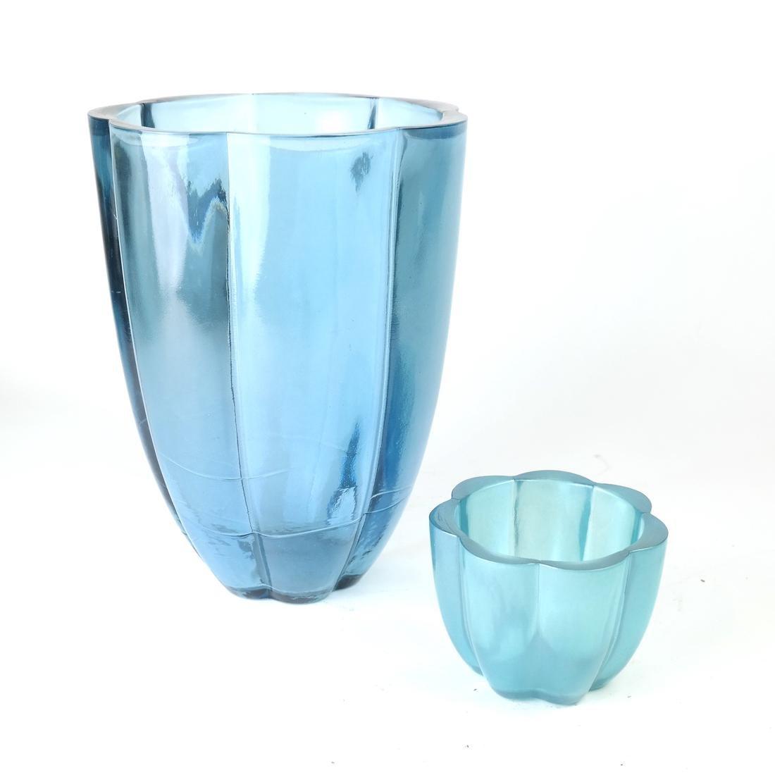 Two Aqua Glass Articles