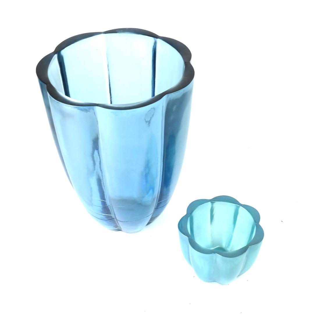 Two Aqua Glass Articles - 2