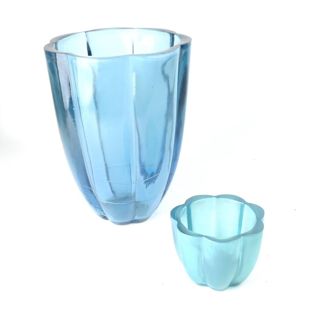 Two Aqua Glass Articles - 3