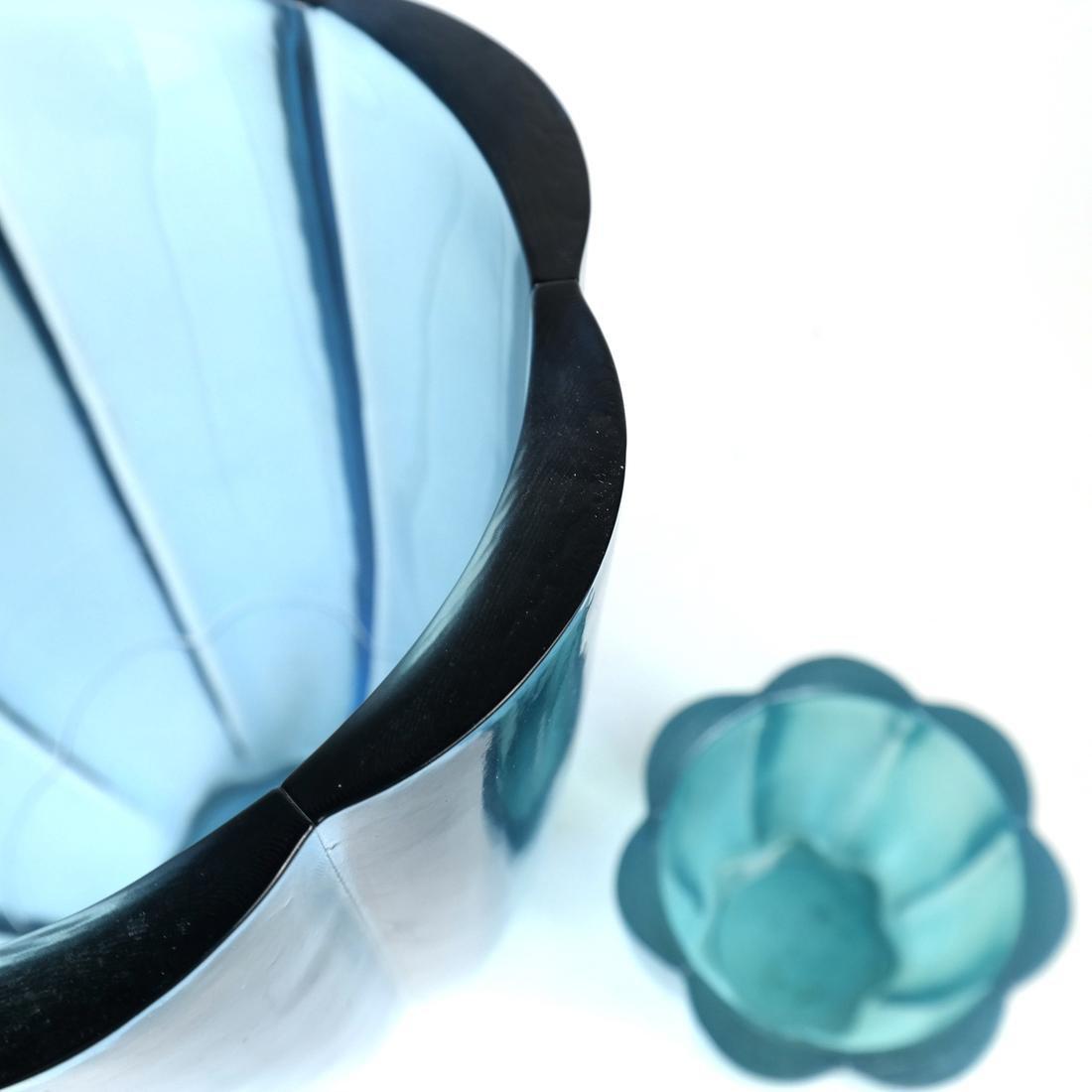 Two Aqua Glass Articles - 6
