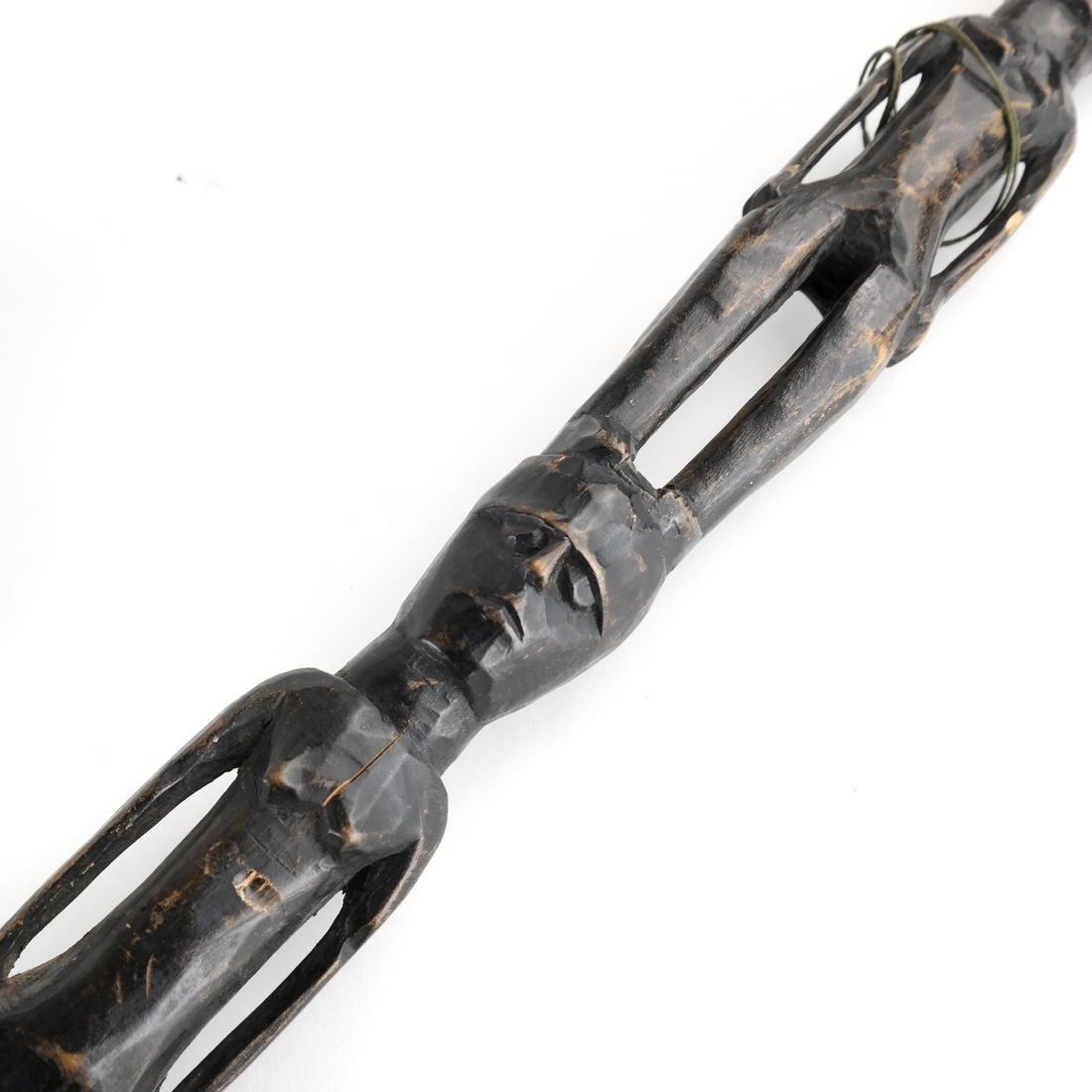 Tribal Figurative Walking Stick - Wood - 4