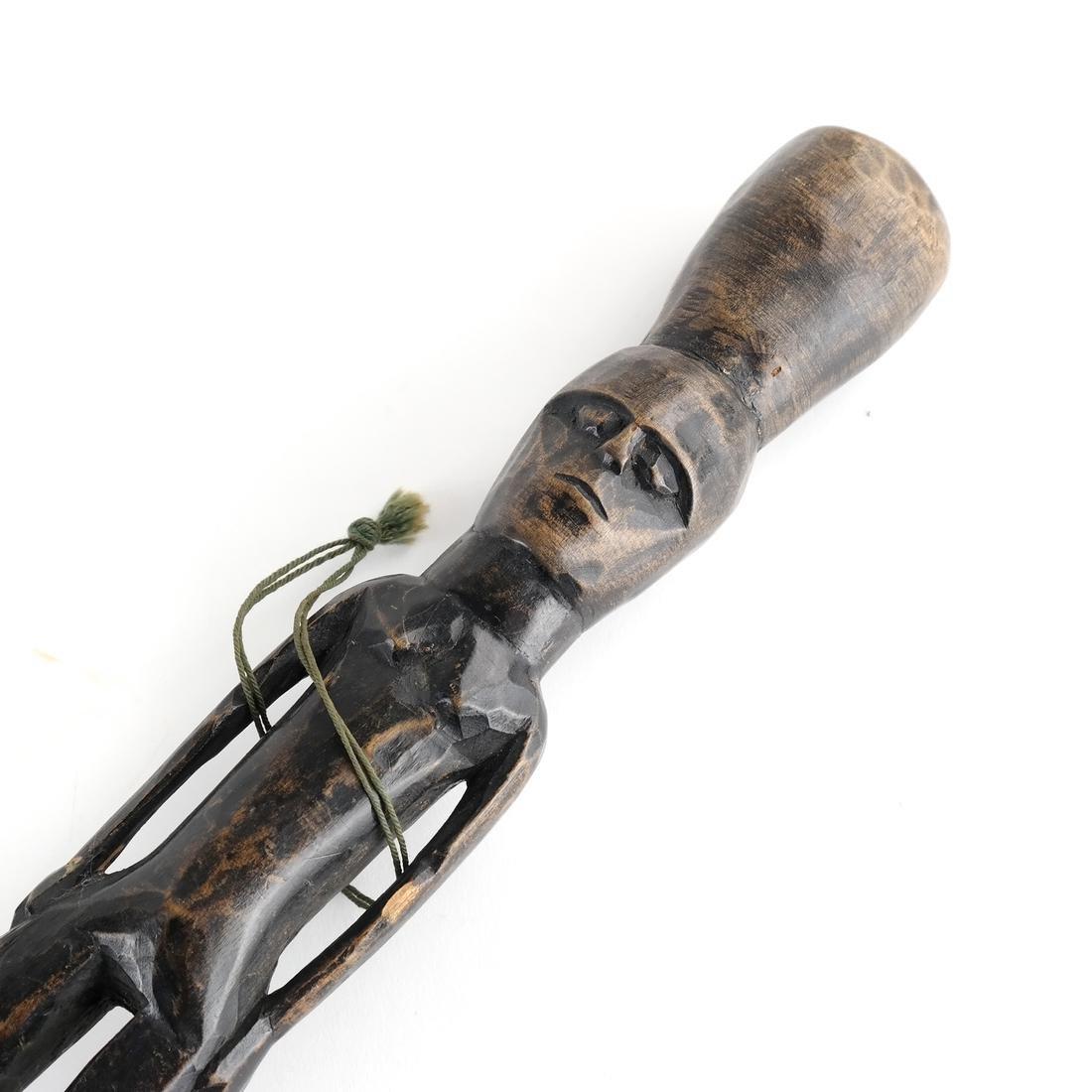 Tribal Figurative Walking Stick - Wood - 5