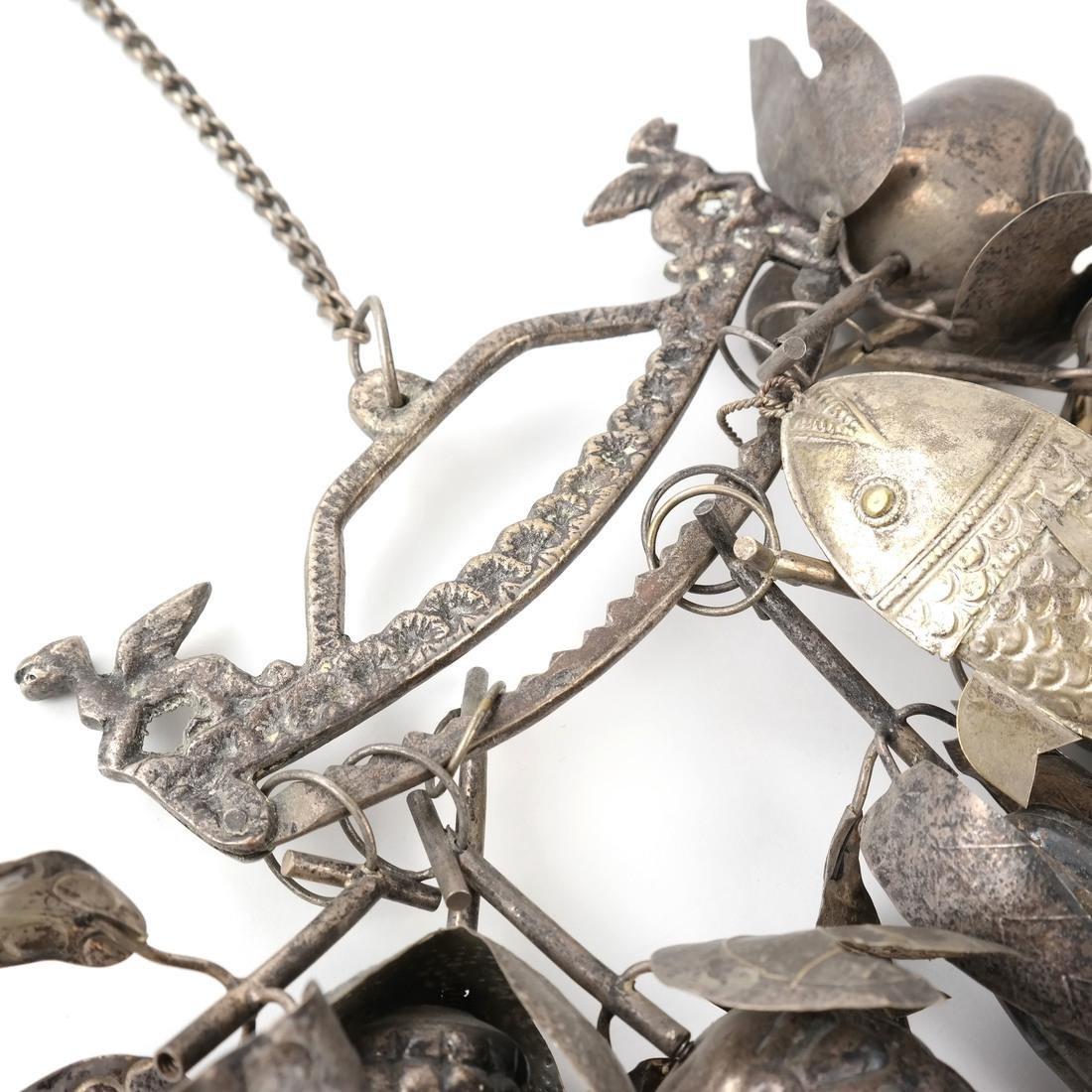 """Brazilian Silvered Metal """"Penca de Balangandan"""" - 4"""