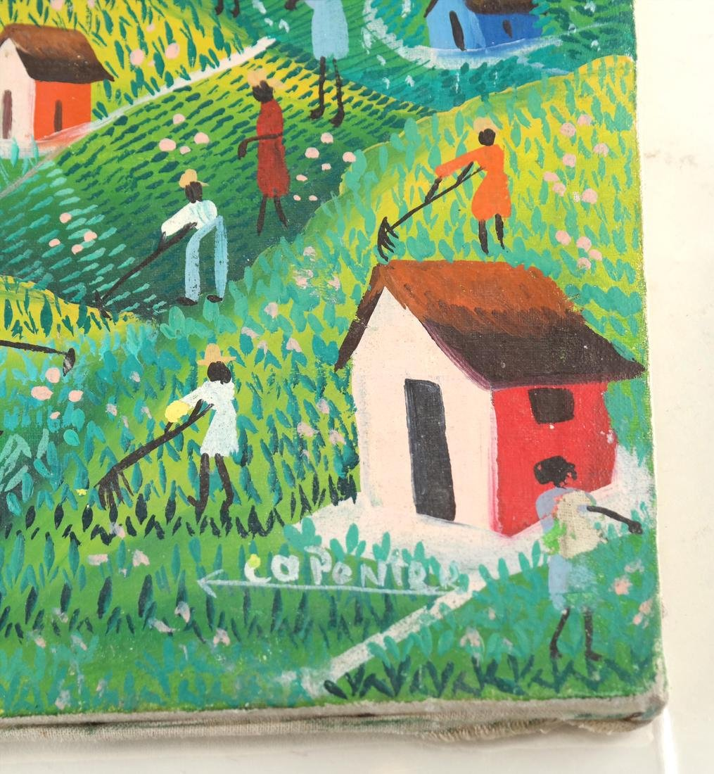 Vintage Haitian Agricultural Scene - Oil Painting - 3